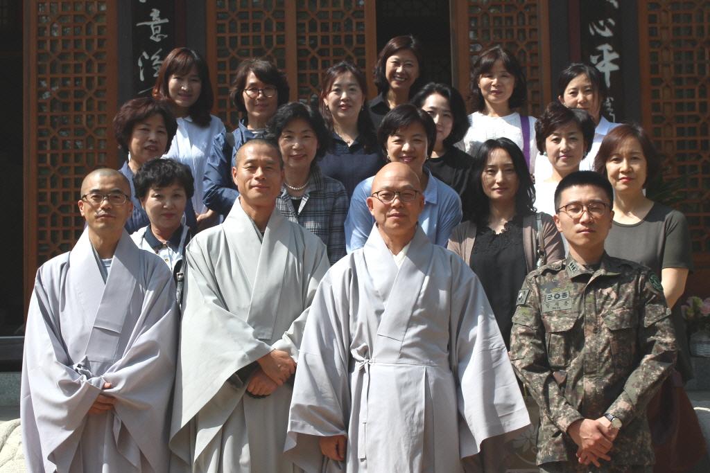 현역 및 예비역 군장성 불자 가족 모임 [성보회]회원-- 주지스님 예방